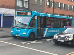 Arriva Leicester 2530 - YJ09 OUB - Optare Solo - Abbey Street, Leicester (leicesterbusexplorer) Tags: leicesterroute104 yj09oub 2530 optaresolo arrivaleicester