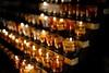 (l i v e l t r a) Tags: df nikkor 50mmf18gse f18 amber candles rows wax melting religious glass catholic