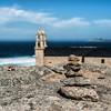 Dos torres (Perurena) Tags: torres towers iglesia church piedras stones equilibrio mar sea oceanoatlantico nubes clouds campanario muxia galicia