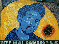 """J-DEF Mosaic Mural"" - Pilsen - Chicago - 15 Oct 2017 - 5DS - 005 (Andre's Street Photography) Tags: pilsenchicago15oct20175ds chicago chitown secondcity windycity mural mosaic paint glass jeffmaldonado jdef hiphop artist killed shot murdered victim mistakenidentity urban streetart 17thandpaulina"