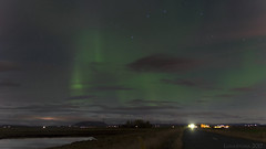 a magic night by the road (lunaryuna) Tags: iceland southwesticeland october surprise night nightphotography nocturnalphotography northernlights auroraborealis nordlichter starrynight bytheroad sky nightsky lunaryuna