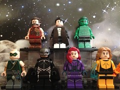 The Royal Family (David$19) Tags: lego legomarvel marvel inhumans karnak blackbolt medusa crystal gorgon maximus triton theinhumans marvelsinhumans moc customminifigures
