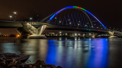 Colors of Lowry (Paul Domsten) Tags: lowrybridge minneapolis minnesota pentax mississippiriver river bridge water colors longexposure