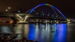 Colors of Lowry (Paul Domsten) Tags: lowrybridge minneapolis minnesota pentax mississippiriver river bridge water colors longexposure