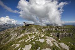 Chäserrugg @ Hinterugg (d/f) Tags: churfirsten walensee berge bergwelt mountains aussicht view viewpoint wolken clouds chäserrugg hinterrugg herzog demeuron restaurant bergrestaurant unterwasser altstjohann weitwinkel canoneos5dsr wideangle
