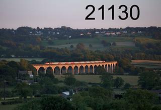 18/06/2017 (Sun) 2123 s Wharfedale viaduct (River Wharf, leeds - Harrogate line) 43 43274 Spirit of Sunderland + 43308 Highland Cheiftain (Nr) 5D26 2110 Harrogate - Leeds Neville Hill T&RSMD Virgin EC Virgin EC  (ECS off 1D26 1803 Kings Cross - Harrogate)