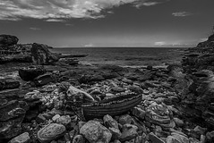 DSC01107 (Damir Govorcin Photography) Tags: boat blackwhite clouds sculpture by sea 2017 exhibition bondi beach sydney wide angle sony a7rii zeiss 1635 natural light