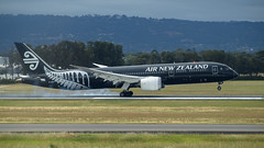 Air New Zealand B787 ZK-NZE (Anthony Kernich Photo) Tags: zknze airnewzealand anz boeing boeing787 boeing7879 dreamliner b789 airplane aircraft airplanepicture airplanephotograph airplanephoto adelaide adelaideairport closeup zoom longlens plane aviation jet olympusem10 olympus olympusomd commercialaviation planespotting planespot aeroplane flight flying airline airliner kadl kpad adl airport raw ypad livery star 787 7879 widebody