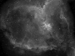IC1805 - Heart Nebula (alastair.woodward) Tags: heart neblua ic 1805 melotte 15 mono ha hydrogen alpha astronomy astrophotography stars sky night skywatcher 130pds telescope asi1600mmc cmos baader filter 7nm