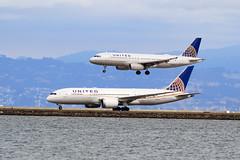 United A320 and 787 at SFO (Ian E. Abbott) Tags: airbusa320232 airbusa320 airbus a320232 a320 unitedairlines n483ua 1586 boeing7878 boeing787 boeing 7878 787 n29907 34830 sanfranciscointernationalairport sanfranciscoairport ksfo sfo