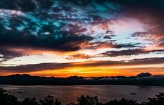 Hakodate Sunset (samstandridge) Tags: hakodate japan hokkaido adventure asia sam standridge sony alpha 6000 a6000 travel water clouds sun set sunset orange ocean sky nature beauty beautiful nihon