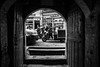 Ever open door ... (except Sundays) / transition (Özgür Gürgey) Tags: 2017 20mm bw d750 nikon unkapanı voigtländer architecture door gate grainy steps street istanbul