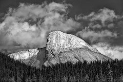 Monster Mountain (Philip Kuntz) Tags: halloween trickortreat scary spooky mountain blackandwhite bw monochrome lakemaligne jasper alberta canada