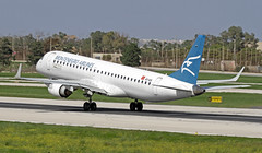 4O-AOA LMML 23-10-2017 (Burmarrad (Mark) Camenzuli) Tags: airline montenegro airlines aircraft embraer 190200lr registration 4oaoa cn 19000180 lmml 23102017