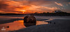 Glenesk Sunset (Impact Imagz) Tags: sunset cloudsstormssunsetssunrises glenesk gress gressbeach gresslodge gressfarm islands outerhebrides westernisles isleoflewis lowtide orange sun canon 6d
