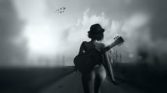 So Many Roads..!! (Mέţίşşε ÐÃŕķ) Tags: sl secondlife smoke effect light personnes second life art ðãŕķ mέţίşşε dolls ps photoshop creations music roads sky maitreya blueberry blues wonderland nomatch nb capture decran flou guitar woman