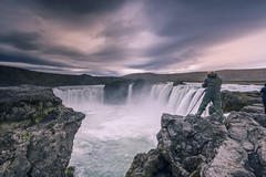Immortalize the moment (Sizun Eye) Tags: godafoss waterfall cascade iceland northern photographer landscape north clouds cloudscape waterscape rocks water extreme sizuneye islande europe nikond750 nikon1424mmf28 nikkor nikkor1424mmf28 uga nisifilters leefilters vüfilters goðafoss