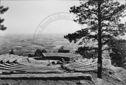 Photo - Overview of Sunrise Circle Amphitheater, close to completion (1933-1935).