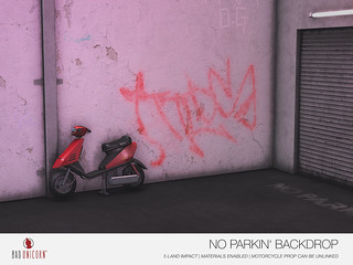 NEW! No Parkin' Backdrop @ TMD
