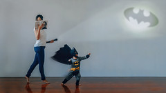 460 Babysitting 2.0 (Katrina Yu) Tags: selfportrait batman bat signal children fun manipulation light shadow 2017 365project everydays funny cute conceptual creative c concept art artistic play