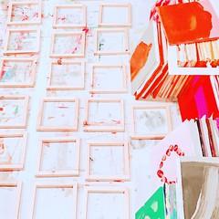 Work in progress (mayakonakamura) Tags: mayakonakamura gallerymirume soloshow 365daysproject acrylic plywood colors colours contemporaryart hachioji tokyo mainichinokakera abstract semiabstract surface figure emerging ground painting frogmentsfromordinary daytoday automatic drawing atmosphere