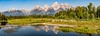 Beaver Pond Reflection - Panorama -Explore (Ron Drew) Tags: nikon d800 grandtetonnationalparkwyoming usa schwabacherlanding snakeriver nationalpark park river outdoor panorama stitched beaverdam glacier morning summer pond reflection