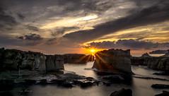 Sunshine (canon-Tom) Tags: sun sunrise sunset sunlight sunshine water sea seascape landscape sky clouds rocks coast beach light waves nature taiwan taipei