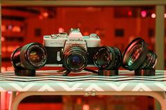 My Minolta Setup (bior) Tags: minoltasrt101 vivitar cosina rokkor lens camera cameraporn gearlust gas gearacquisitionsyndrome minolta slr filmslr filmcamera sanjoseannualbloodsummoningritual