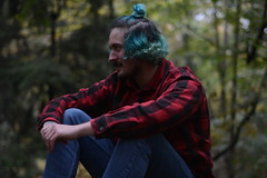 Joe (karleemorganroyek) Tags: portrait boy blue hair flannel fall autumn blur october nikon d7100 50mm f18 1125