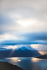 Tromsø Mountains (mikbang) Tags: majestic mountains sky tromsø norge norway 2017 godrays ray blue yellow white black landscape sunset mountain tromso mikaelbangandersen mikemedkamera mood