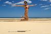 Uhuuul (Jaime Sales) Tags: dunas praia céu azul beach blue sky areia land salto jump girl ceará brasil brazil óculos sunglasses