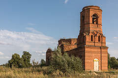 Abandoned Church. (Oleg.A) Tags: ancient autumn arch penzaregion russia church nature outdoor rural evening bell chapelle abandoned interior ruined orthodox old architecture destroyed antique building cathedral saintmichaelthearchangelchurch catedral chapel arc outdoors sinorovo penzenskayaoblast ru