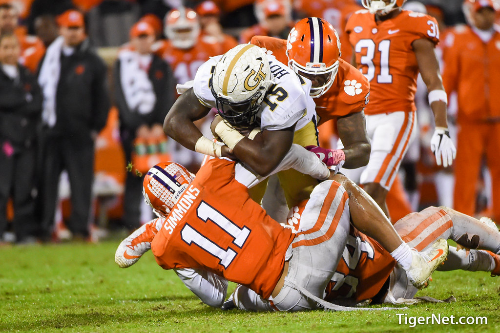 Clemson Photos: Jabril  Robinson, 2017, Football, Georgia  Tech
