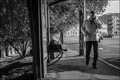 3_DSC9599 (dmitryzhkov) Tags: black blackandwhite bw monochrome white bnw art city moscow documentary photojournalism street urban candid life streetphotography streetphoto moment light shadow dmitryryzhkov people sony sunday sunlight sunshine morning shadows motion movement stop lie sleep rogue pedestrian phone walk talk converse conversation walker man men