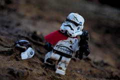 Dirt and grime (RagingPhotography) Tags: lego star wars imperial galactic empire stormtrooper storm trooper dirt grime filth filthy outside outdoor soil dirty mud muddy plastic toy toys minifigure minfig figure pauldron captain general commander blaster weapon rebel rebellion alliance photo photography ragingphotography