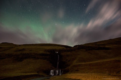 Uncertainty excites me (OR_U) Tags: 2017 oru iceland gluggafoss merkjárfoss night nightphotography longexposure stars aurora auroraborealis northernlights clouds waterfall water mountain