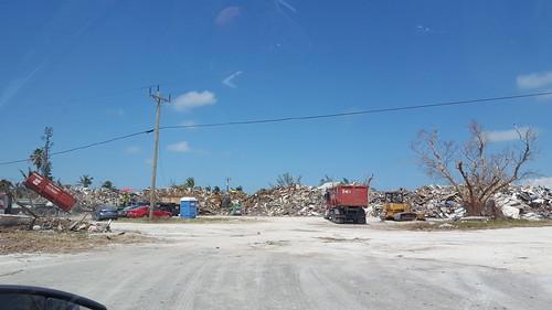 Debris dump site