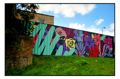 STREET ART by NERONE (StockCarPete) Tags: nerone streetart londonstreetart flowers floral urbanart pengeart london uk shippingcontainer