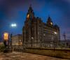 liver building Liverpool's pier head (Steven Blanchard) Tags: liverpool longexposure merseyside liverbuilding light monuments cityscape city buildings architecture