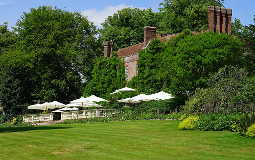 The terrace at Pashley Manor