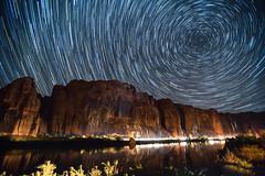 Star trails from camp (matt.sellars) Tags: explore moab nightshots nighttime startrails stars travel canyon coloradoriver