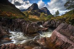 Autumn in the Coe of Glen (chrismarr82) Tags: nikon scotland autumn glencoe river lee mountain rock