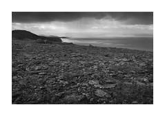 The rocky land (rockallkalle) Tags: rocks black white landscape h that rocky