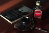 Cherry Liqueur (kameliakonstantinova) Tags: photo photography photocard photographer food drink drinking eat eating cherry liqueur coffee book reading read cup bottle table cookie spoon evening indoor dinner beautiful beauty composition color colorful