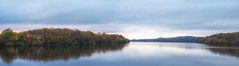Sunset over Anglezarke (Lee Harris Photography) Tags: sunset landscape landscapes panorama panoramic pano lake water stillness tree outdoor lancashire sky tranquil serene forest wood reflections