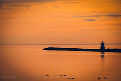 Lighthouse in the sunset, Carleton-sur-Mer, Quebec, Canada (corineouellet) Tags: lighthouse ocean canon sunsets sunset