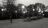 Summer's gone (frankdorgathen) Tags: lantern lamp light electricity tree chair table outdoor park stadtpark essen ruhrgebiet city town urban