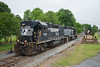 Mining Town (ajketh) Tags: ns norfolk southern p92 quaint small gold rush hill nc north carolina nline 6065 emd gp383 gp382 semitruck flatbed historic freight train branch railroad rock mine mining 5825