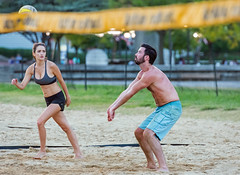 2017-09-15 BBV Coed Doubles (79) (cmfgu) Tags: craigfildespixelscom craigfildesfineartamericacom baltimore beach volleyball bbv md maryland innerharbor rashfield sand sports court net ball outdoor league athlete athletics sweat tan game match people play player doubles twos 2s coed