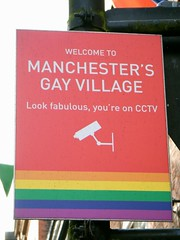 🌈🌈Manchester = Gay Village security sign = LOOK FABULOUS🌈🌈 (rossendale2016) Tags: recording recorded unusual feed live holiday destination visitor rare behaviour behaved moderate drinking drunks calm trouble dissuade council police surveillance cameras video water next areas sitting tables outside chairs welcome lgbt theatre music steps stages landing barges boats area recognised known well winter summer evenings weekends saturday crowds packed busy hotels restaurants bars popular canalside centre kingdom united uk iconic unusua warning clever sign camera security you're fabulous look village gay manchester street canal